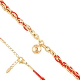 Bransoletka sznurek z łańcuchem Xuping BP8122