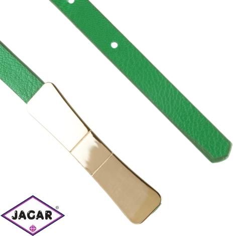 Pasek cienki zielony z blaszką BL413