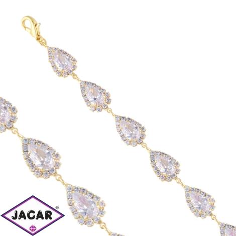 Bransoletka czeskie kryształy B/GRUSZKA BRA3375