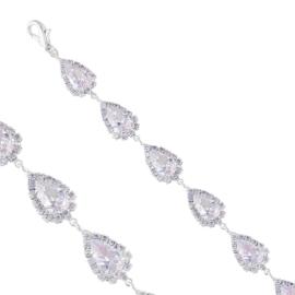 Bransoletka czeskie kryształy B/GRUSZKA BRA3376