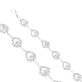 Bransoletka czeskie kryształy B/PAW BRA3382