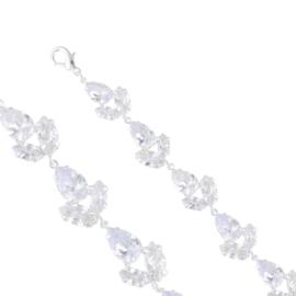 Bransoletka czeskie kryształy B-2024 BRA3383