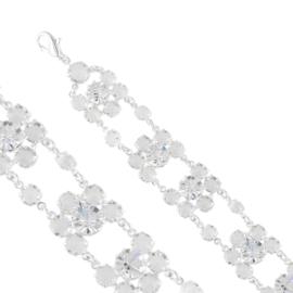 Bransoletka czeskie kryształy B/19 BRA3387