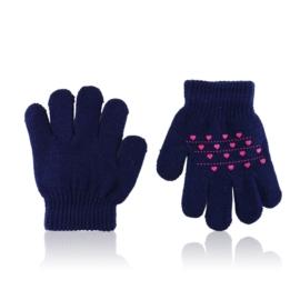 Rękawiczki dziecięce z serduszkami 12cm RK686