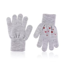 Rękawiczki dziecięce z serduszkami 15cm RK694