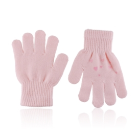 Rękawiczki dziecięce z serduszkami 15cm RK695