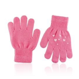 Rękawiczki dziecięce z serduszkami 15cm RK696