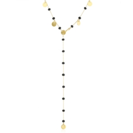 Celebrytka stalowa krawatka z koralikami CP5606