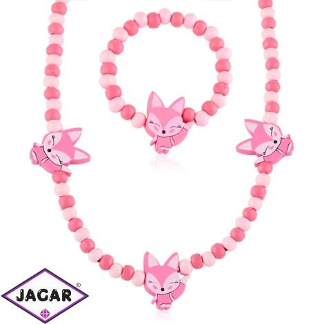 Komplet biżuterii dla dzieci liski - KOM469