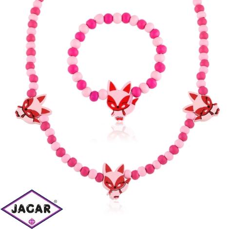 Komplet biżuterii dla dzieci liski - KOM470