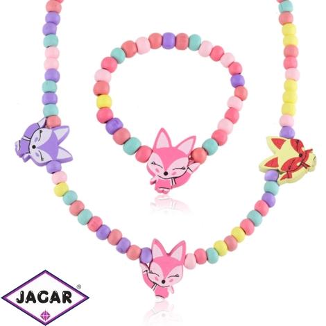 Komplet biżuterii dla dzieci liski - KOM471