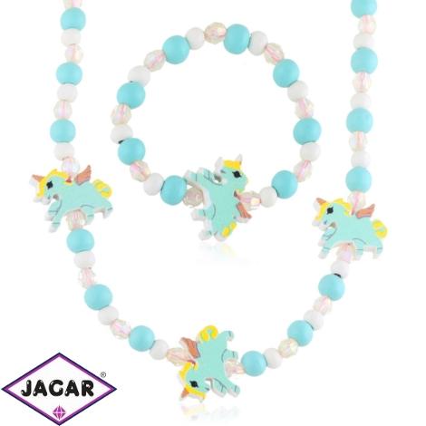 Komplet biżuterii dla dzieci unicorns - KOM473