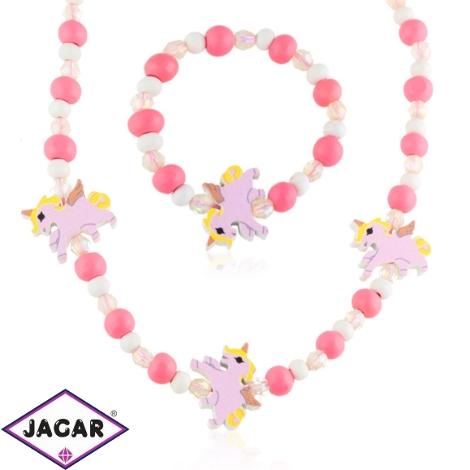 Komplet biżuterii dla dzieci unicorns - KOM474
