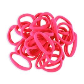 Gumki do włosów klasyczne różowe 50szt OG1099