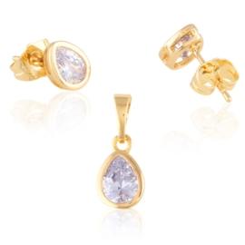 Komplet biżuterii z kryształkami - Xuping PK568