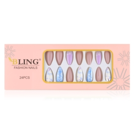 Tipsy paznokcie sztuczne 24szt - PIL140