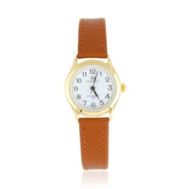 Zegarek skórzanym pasku - brązowy Z2306