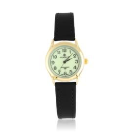 Zegarek skórzanym pasku - czarny Z2311
