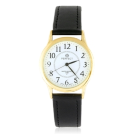 Zegarek skórzanym pasku - czarny Z2312
