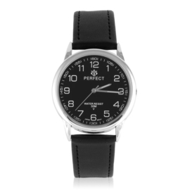 Zegarek skórzanym pasku - czarny Z2313