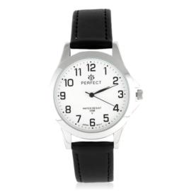 Zegarek skórzanym pasku - czarny Z2315