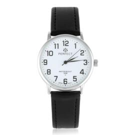 Zegarek skórzanym pasku - czarny Z2316