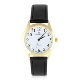 Zegarek skórzanym pasku - czarny Z2317