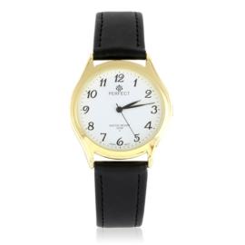 Zegarek skórzanym pasku - czarny Z2318