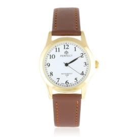 Zegarek skórzanym pasku - brązowy Z2320