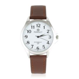 Zegarek skórzanym pasku - brązowy Z2321