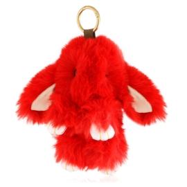 Brelok futerkowy królik czerwony - PU292