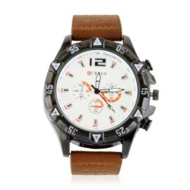 Zegarek męski na pasku - brązowy Z2358