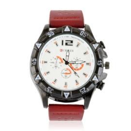 Zegarek męski na pasku - czerwony Z2359