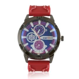 Zegarek męski na pasku - red Z2363