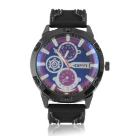 Zegarek męski na pasku - black Z2364