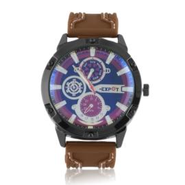 Zegarek męski na pasku - brown Z2365