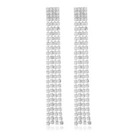 Kolczyki czeskie dżetowe 7cm EA3817
