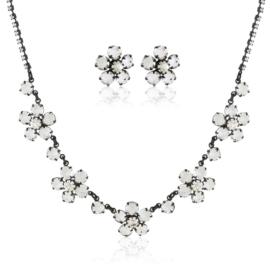 Komplet czeskie kryształy - KOM481