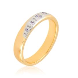 Obrączka z kryształkami Xuping PP3124