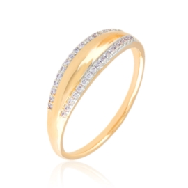 Pierścionek z kryształkami Xuping PP3130
