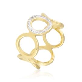 Pierścionek stal z kryształkami Xuping PP3141