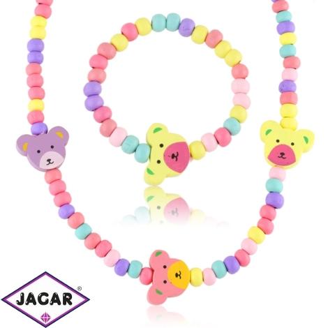 Komplet biżuterii dla dzieci misie - KOM485