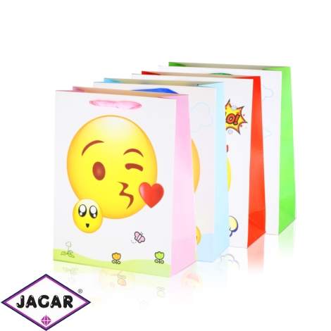 Torebki prezentowe emoji 23x18cm 12szt/op TP631
