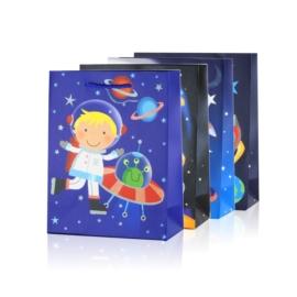 Torebki prezentowe kosmos 23x18cm 12szt/op TP658