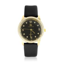 Zegarek damski na pasku czarny Z2419