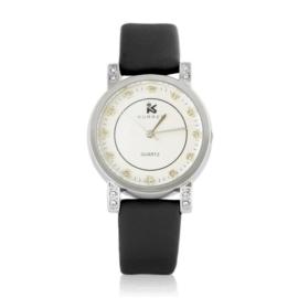 Zegarek damski na pasku czarny Z2422