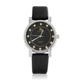 Zegarek damski na pasku czarny Z2425