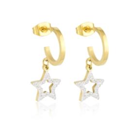Kolczyki stalowe z gwiazdkami Xuping EAP16899