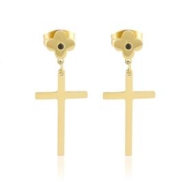 Kolczyki stalowe krzyżyki Lisha EAP16901