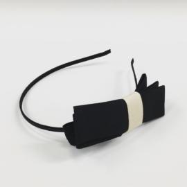 Opaska z kokardą -czarna - OPS863